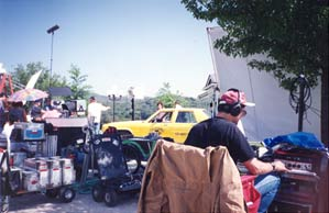 The set of a movie