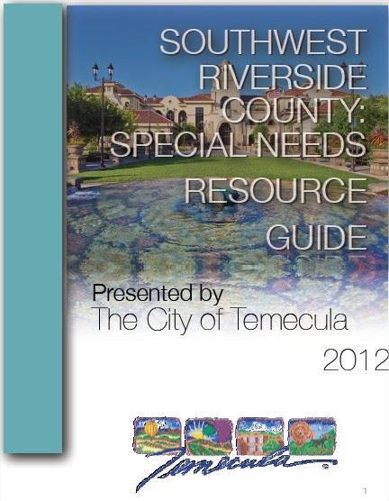Southwest Riverside County: Special Needs Resource Guide Cover