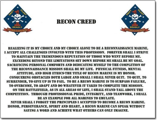 Full text of the Recon Creed