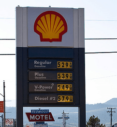 High Gas Prices on a Sign