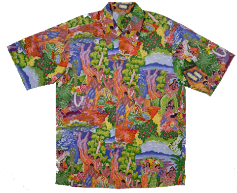Hawaiian Museum Exhibit Shirt